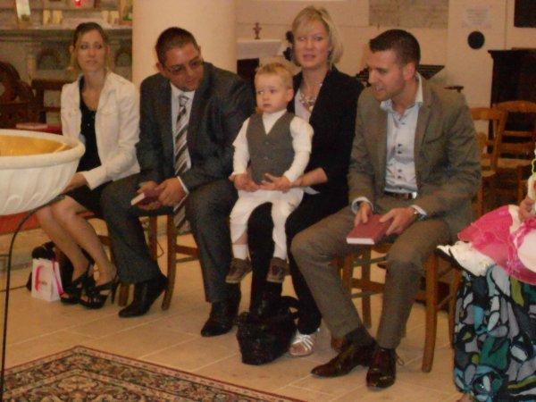 Son baptême le 22 septembre 2012