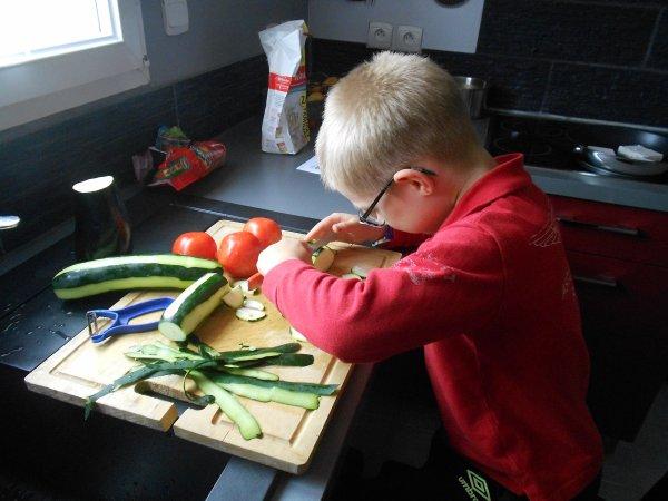 Un peu de cuisine - Poisson aux légumes et crumble