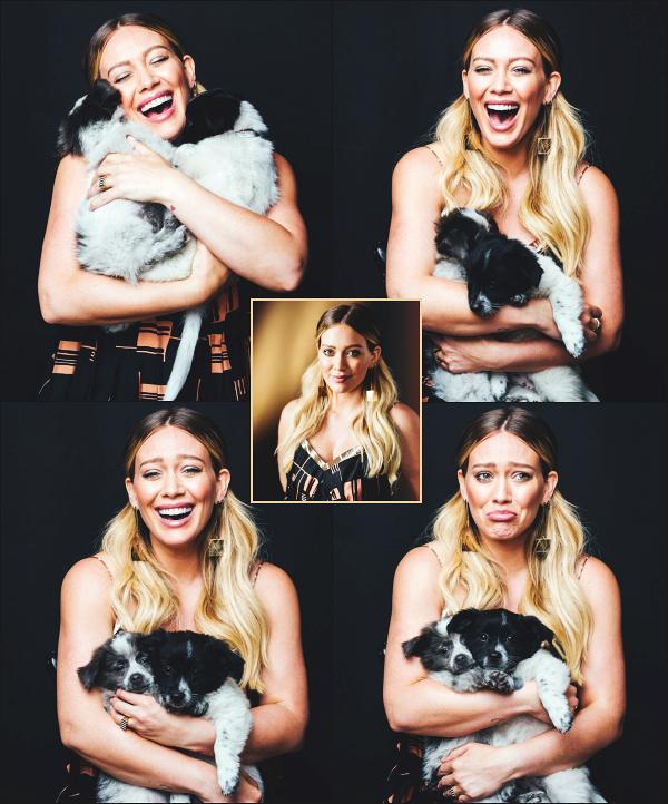 """"""" • Voici de nouveaux portraits d'Hilary Duff avec des chiots, réalisée par « Buzzfeed »  -"""