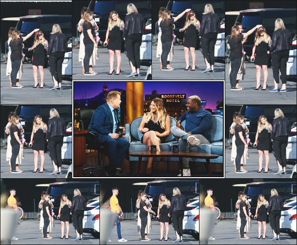 - 11.06.18 ─ Notre Hilary Duff est aperçue alors qu'elle se rendait sur le plateau du « Late Late Show » à Hollywood[/s#00000ize]Hilary avec son gros bidon est allée répondre à quelque questions de James Corden ! Quelques photos lors de son arrivée, et aussi sur le plateau ! Un top -