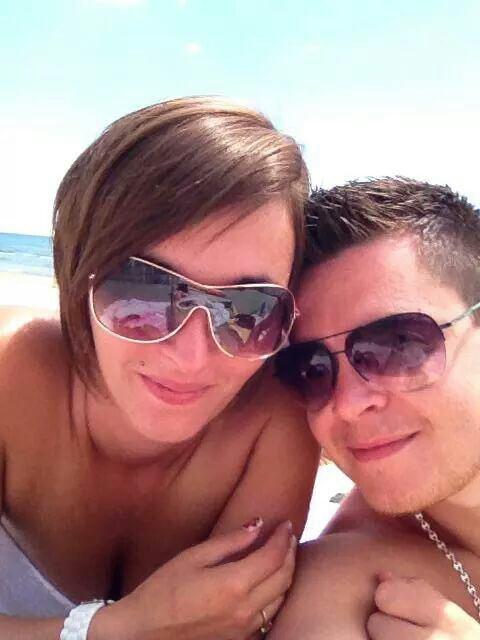 Petite photo avec mon homme a la plage