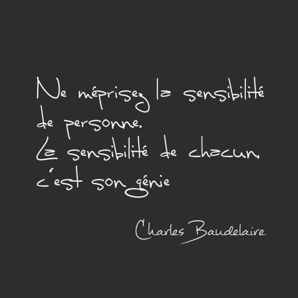 Citation.... Charles Baudelaire