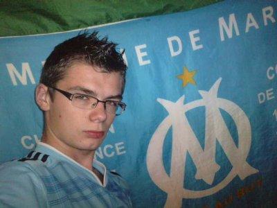 Encor derière mon drapeau de l'om Tkt ALLEZ L'OM