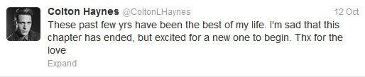 LA SAISON 3 ARRIVE EN 2013... SANS COLTON HAYNES !