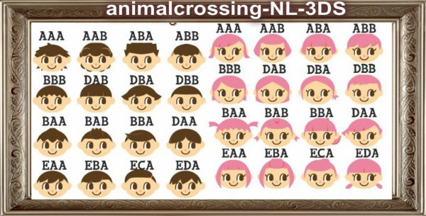 Coiffure d 39 animal crossing new leaf sur 3ds bienvenue - Coupe animal crossing new leaf ...
