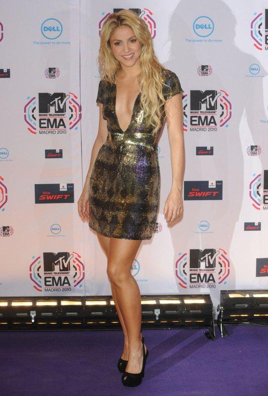 9 novembre  shakira MTV EMA 2010 Madrid