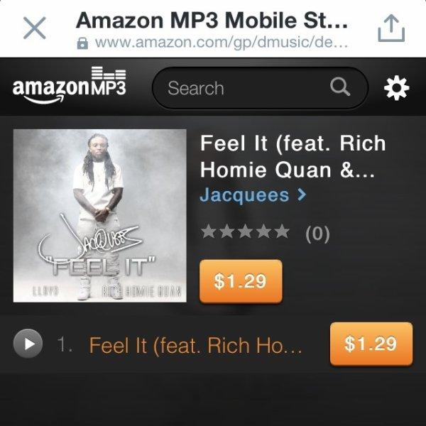 """4 Février 2014: Jacquees a sortie son single """"Feel It"""" il a posté quelques photos sur son instagram"""