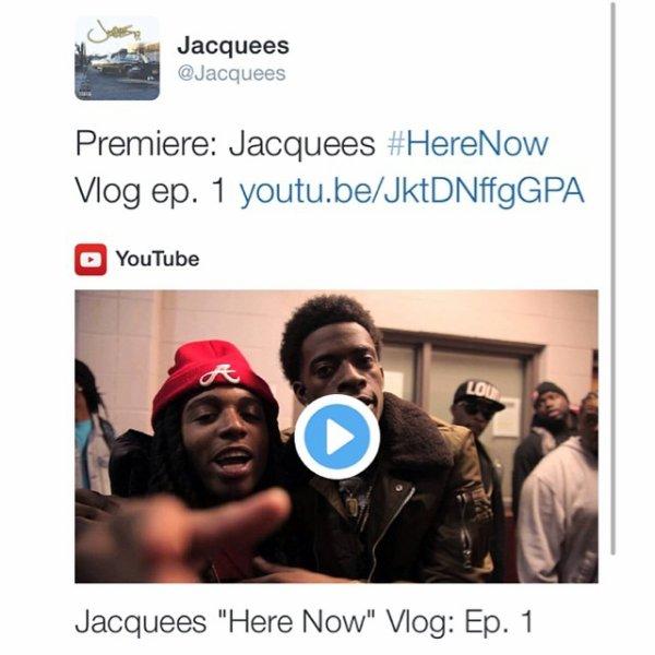 11 Mars 2014: Jacquees a postés des photos et a dévoilé le premier épisode de son VLog