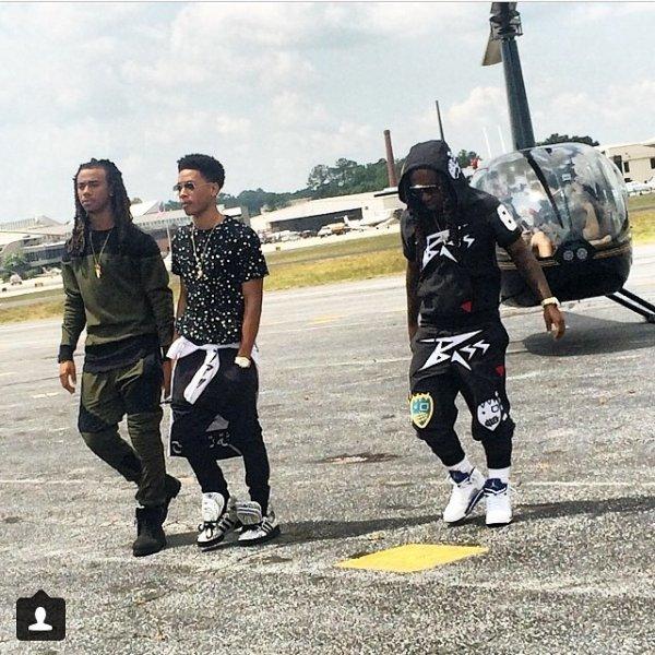 """9 Juillet 2014: Jacquees, Issa et Jacob Latimore étaient en tournage pour le prochain single/vidéo de Issa """"Breathe"""""""