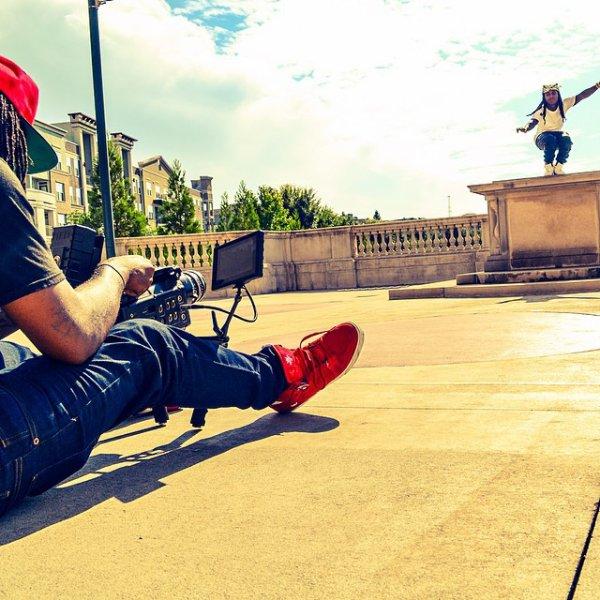18 Septembre 2014: Jacquees était sur le tournage d'un de ses clip, puis il s'est rendu au studio