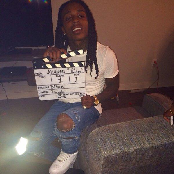 """7 Octobre 2014: Jacquees était sur le tournage de son nouveau clip """"No Questions"""" il a posté quelques photos"""