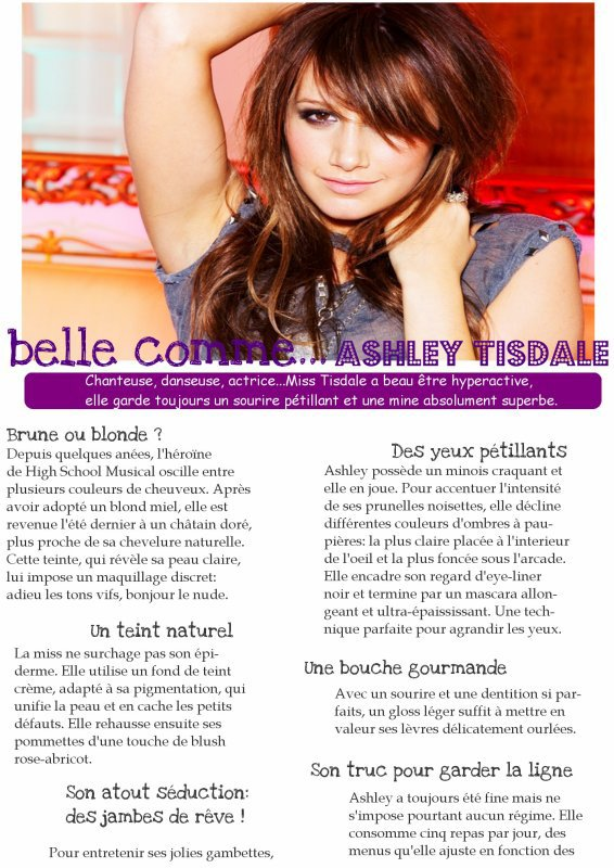 Belle comme ... Ashley Tisdale