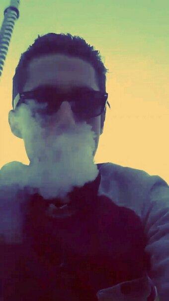 Plongé dans un nuage de fumé