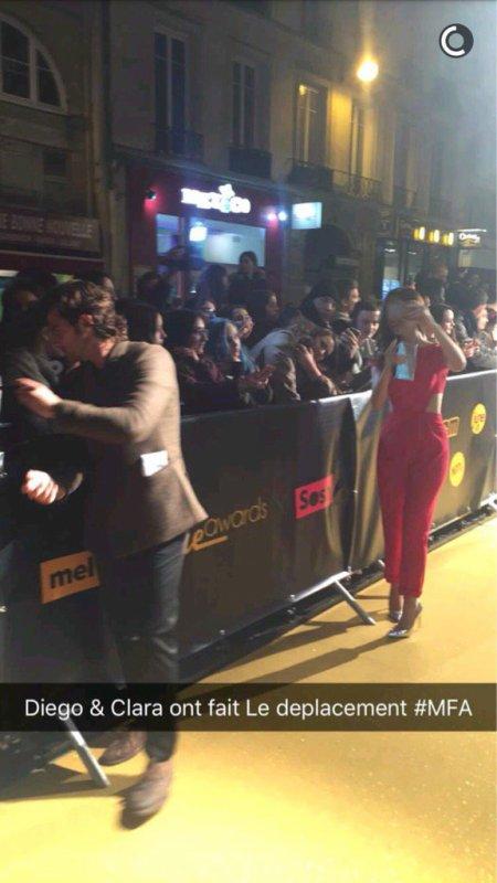 Diego et Clara - Melty Future Awards à Paris