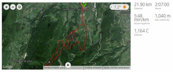09/10/2014 : Trail de Montagnole