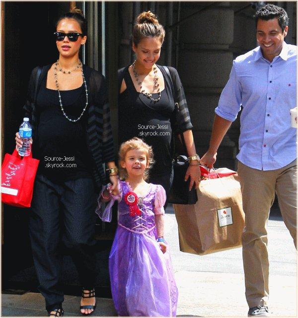 7/06 - Jessica, Cash et Honor a New York, pour l'anniversaire de Honor .