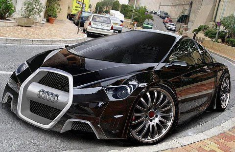 elle belle  a voiture