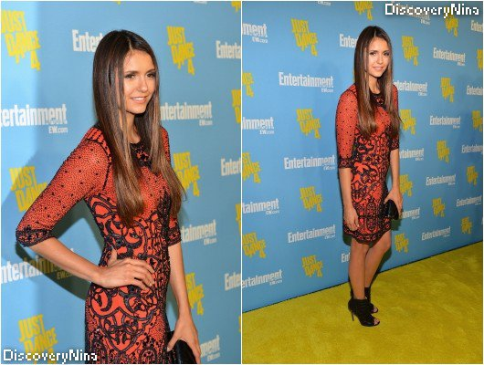 Le 14/07/12 ; Nina se trouvait toujours aux Comic Con, elle s'est rendue à une soirée organisée par Entertainment Weekly
