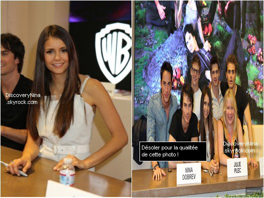 Le 14 juillet | The Vampire Diaries Comic-Con 2012 - Signature d'autographes
