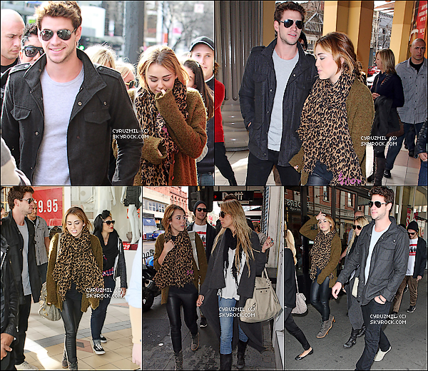 *23/06/11 : Miley, Liam et Tish se promènent à Melbourne, sur Chapel Street.  + Vidéo de Miley qui nous fait découvrir le nouveau look de son site!  *