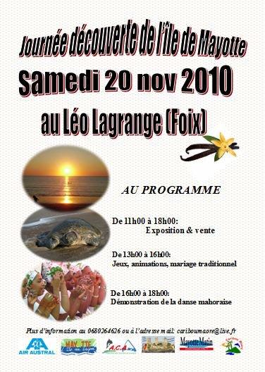journnée Mayotte à Foix, deuxieme édition