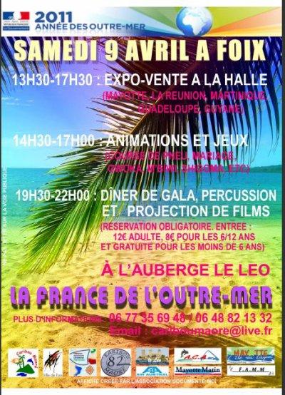 journée du 09 Avril à Foix sur la France de l'Outre-mer