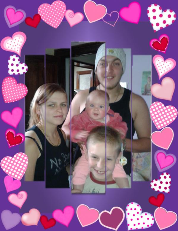Mes enfants et ma petite-fille