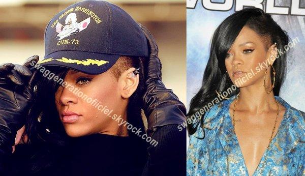 Rihanna est de nouveaux brune  avec  un cotès rasé.  Vous la trouvez comment ?