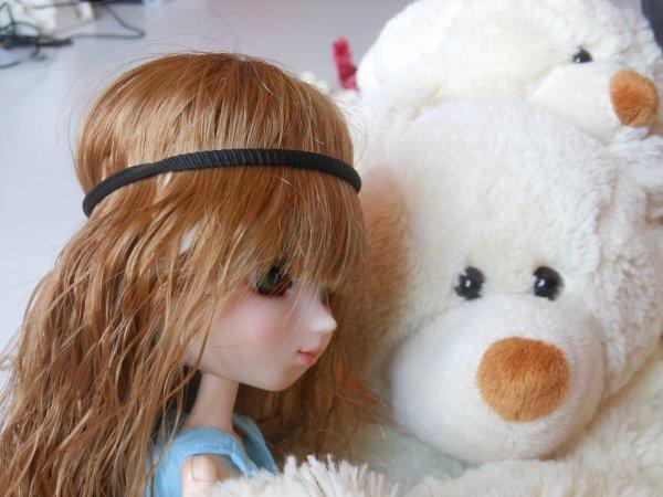 rencontre avec un ours polaire (une peluche bien sure)
