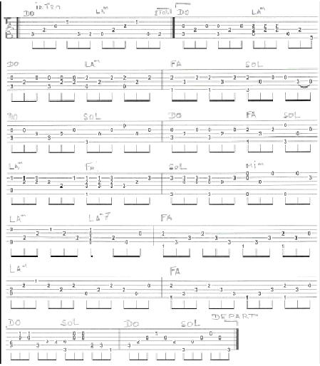 alléluia (arrgt + tablature)