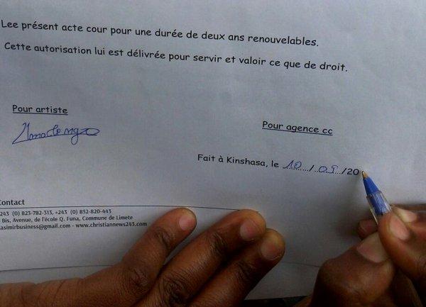 La Sr johanna molengo viens de signer un contrat de management de deux ans avec l'agence Casimir Consultingng.