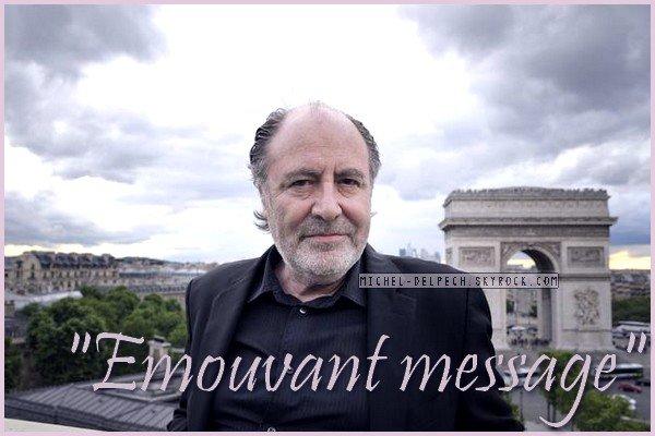 L'émouvant message de Michel Delpech