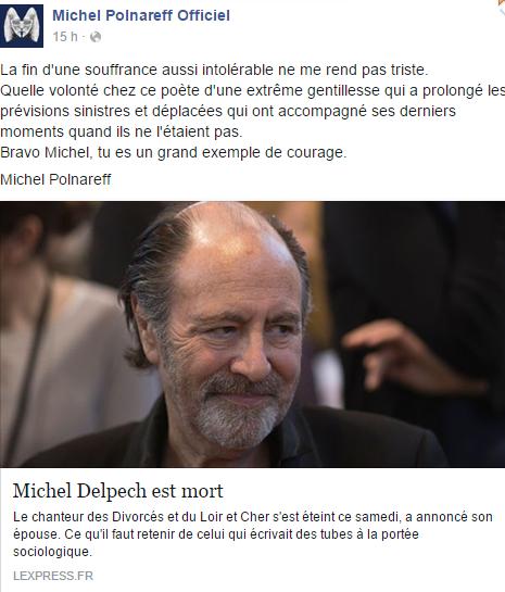 Michel Delpech. Hommages unanimes à la hauteur d'un géant