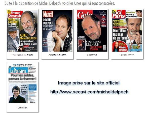 Michel Delpech les UNES