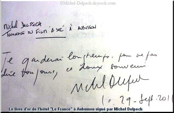 Les souvenirs laissés par Michel Delpech en Creuse
