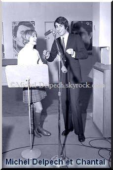 Michel Delpech et Chantal, sa première femme