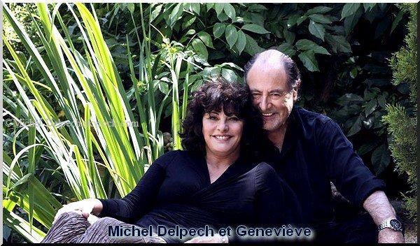Michel Delpech et Geneviève, son épouse