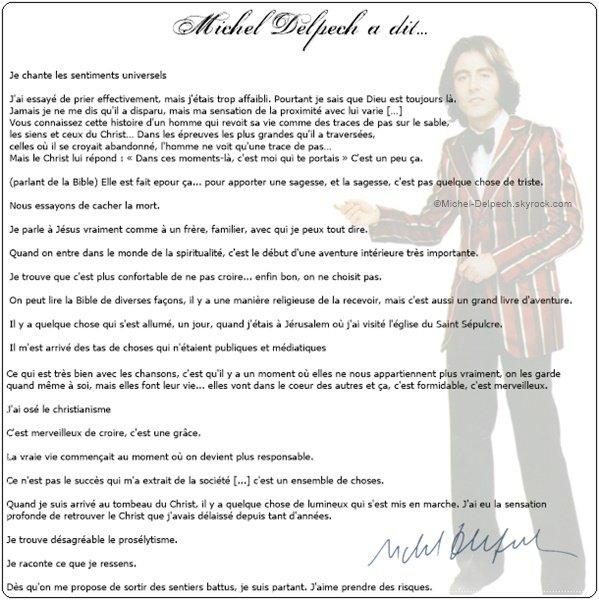 Michel Delpech en quelques citations...