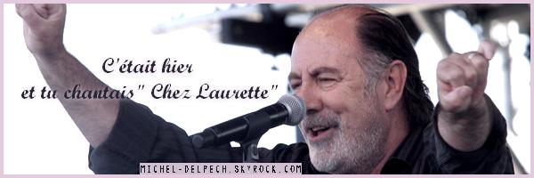 Michel Delpech à la Tour Eiffel le 14 juillet 2011....