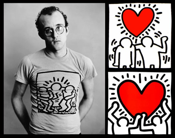 """Keith Haring  <3 !  """" le Griffe Haring """""""