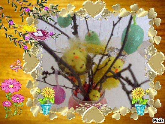arbre de paques réaliser par mon fils michael