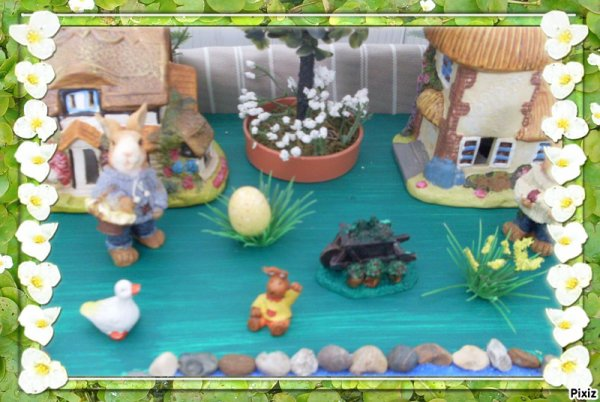 photos de mon village 2 en 1 printemps + paques