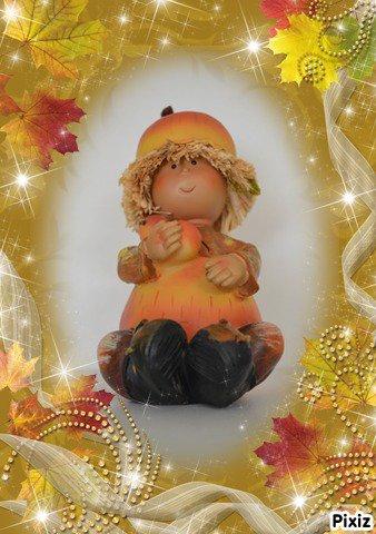 figurine de 17cm pour ma décoration d'automne