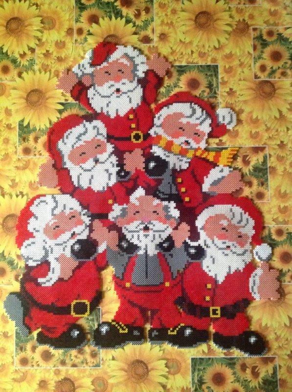 Reparation de mes 6 péres Noël Finie.
