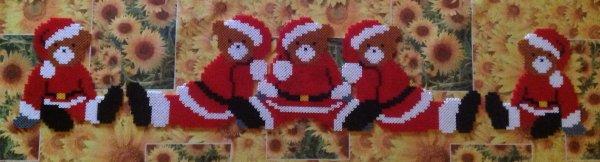 5 Oursons de Noël .c'est 5 oursons représente mes 5 enfants .