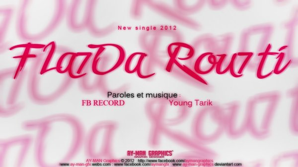 sahran al wa7di /  Fla7da Ro7té _ Young Tarik . Paroles & Musique Young Tarik / (RADIO EDIT) (2012)