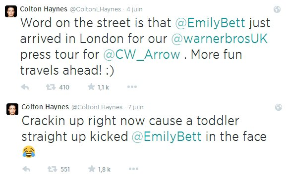 Colton Haynes et Emily Bett Rickards : en couple ?