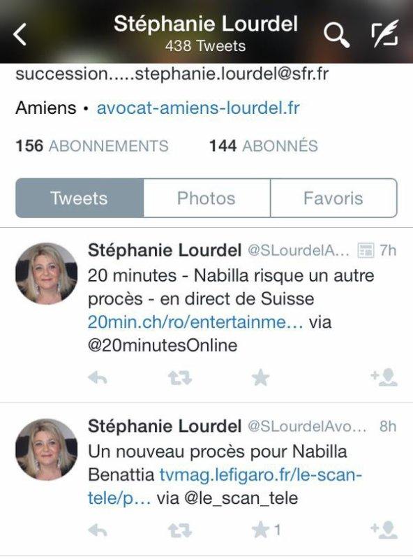 L'avocate de Michaël Bizet a tweeté ceci.