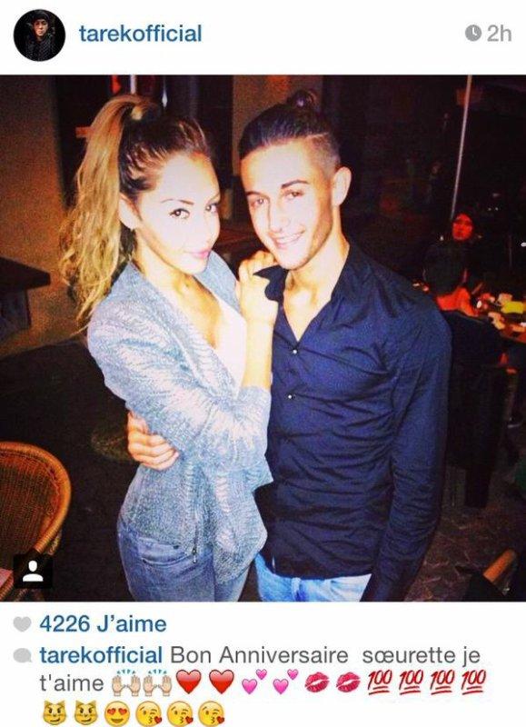 Photo postée par Tarek sur instagram à propos de l'anniversaire de Nabilla.