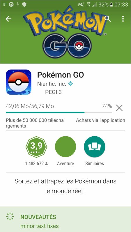 Enfin sorti !!! Pokémon GO !!!